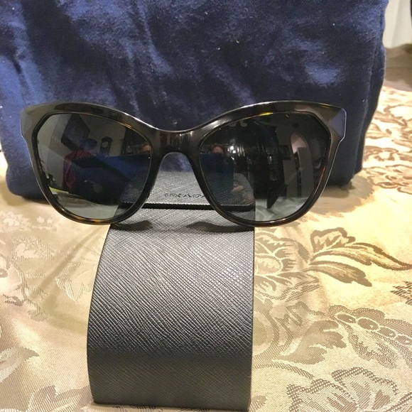 05a79d28ca0e Prada Havana Dark Blue Sunglasses. M 5c323ecd2beb7955ce1b8f30. Other  Accessories ...